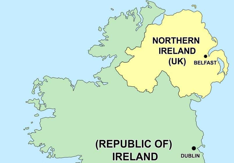Republic Of Ireland And Northern Ireland Map.Eu Parliament Threatens To Veto Brexit Deal Over Uk S Northern