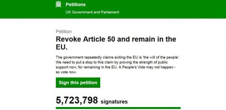 'Cancel Brexit' Petition Nears 6 Million Signatures, Author Suffers Death Threats