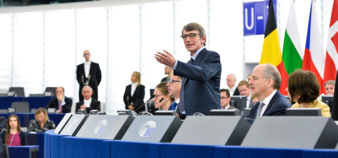 Italy's David-Maria Sassoli Elected President of New European Parliament by MEPs