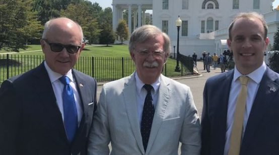 Trump Adviser Bolton Touts Again US-UK Trade Deal after Hard Brexit but 'in Pieces'