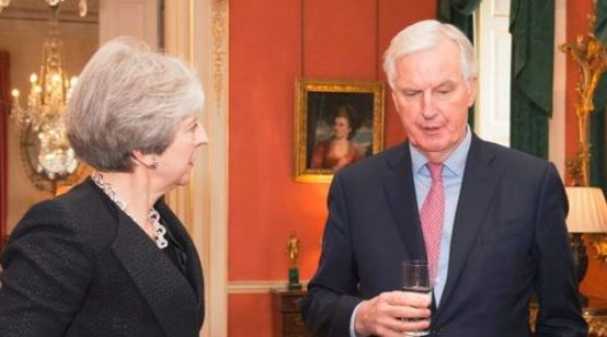 "May to Warn EU against Wanting ""the Unacceptable"" as Barnier Shifts Tone on Brexit Irish Border Issue"