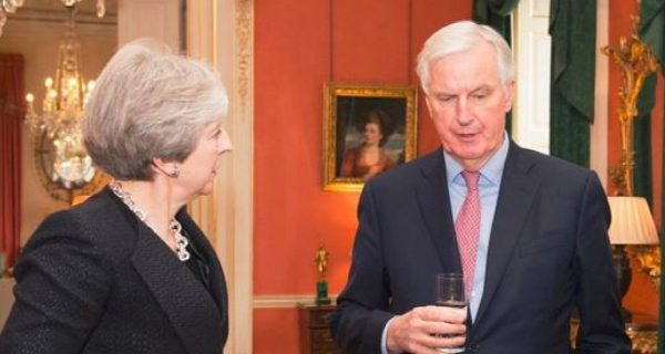 """May to Warn EU against Wanting """"the Unacceptable"""" as Barnier Shifts Tone on Brexit Irish Border Issue"""