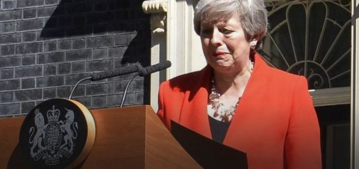 UK Leader May Resigns in Tears amid Brexit Quagmire